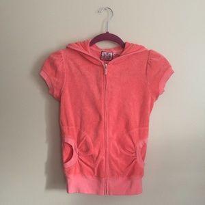 Juicy Couture NWT Short Sleeve Zip Up Hoodie
